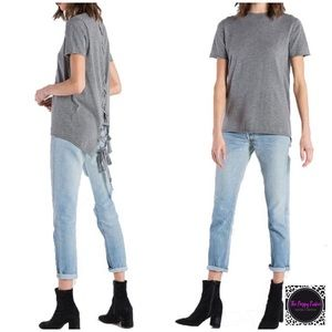 n:Philanthropy Graves Lace Up Short Sweater NWT
